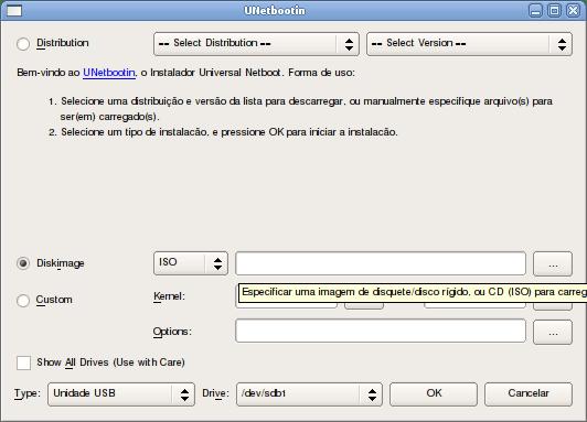 Usando o Unetbootin para criar um Pendrive inicializável. (6/6)