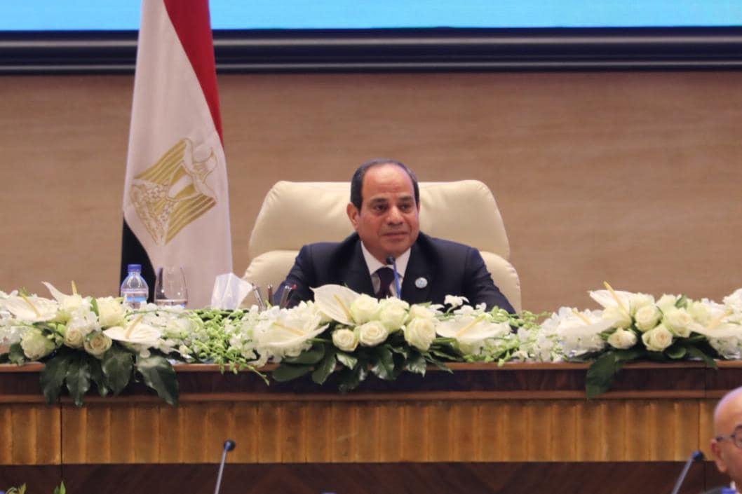 الرئيس عبد الفتاح في جلسة محاكاة الدولة المصرية