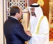 بن زايد عقب وصول الرئيس السيسي : أرحب بضيف البلاد الكبير والصديق العزيز