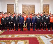 السيسي يوجه بتوفير الإمكانات لأبطال مصر الرياضيين لتحقيق الانجازات (صور)