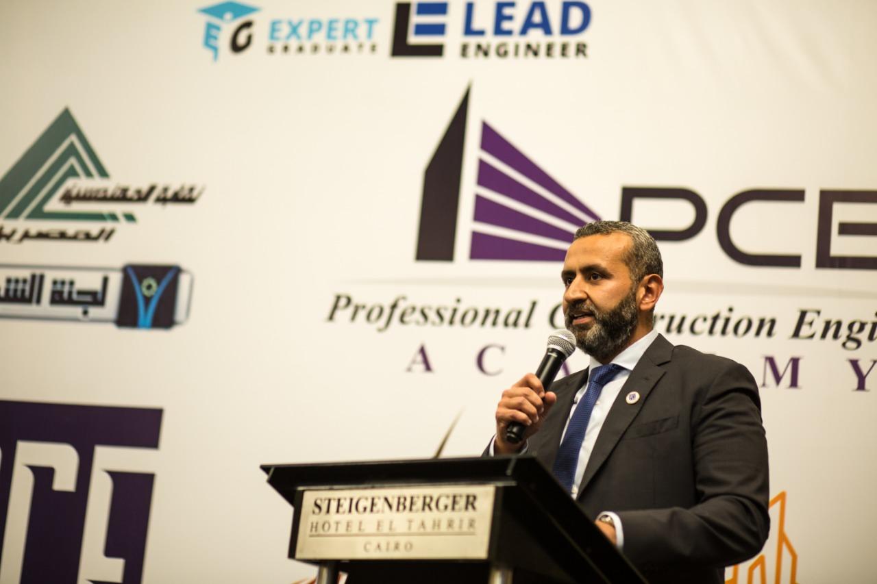 الدكتور وليد السويدي عضو جمعية رجال الأعمال المصريين ورئيس أكاديمية مهندسي الإنشاءات المحترفين PCE،