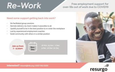 Re-Work Free Employability Programme launches in partnership with HTB London