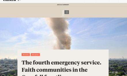 The fourth emergency service. Faith communities in the Grenfell frontline