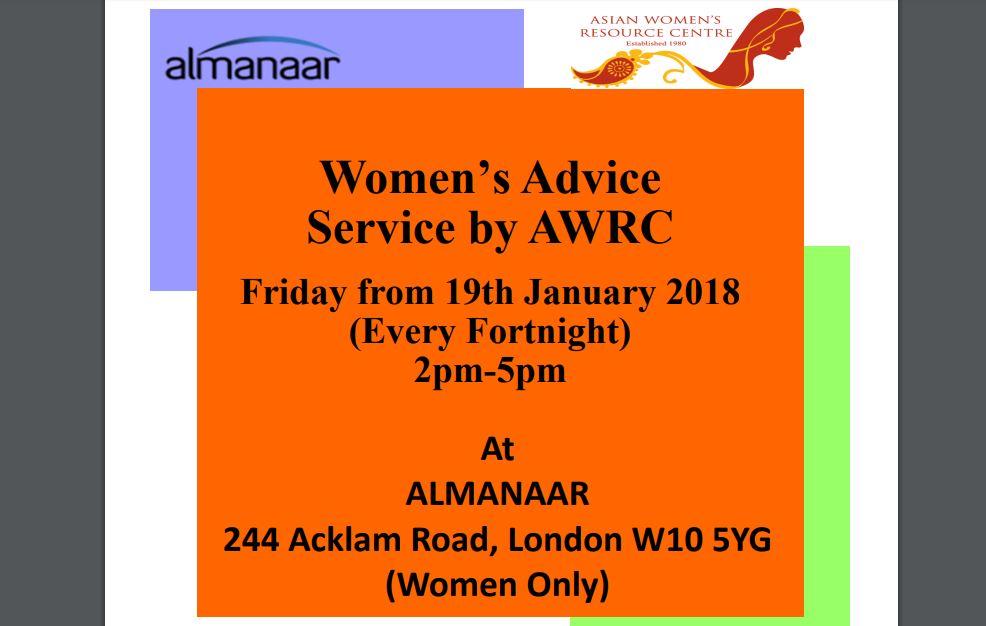 Women's Advice Service by AWRC