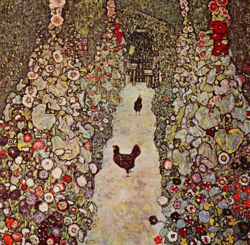 garden-path-with-chickens-by-klimt