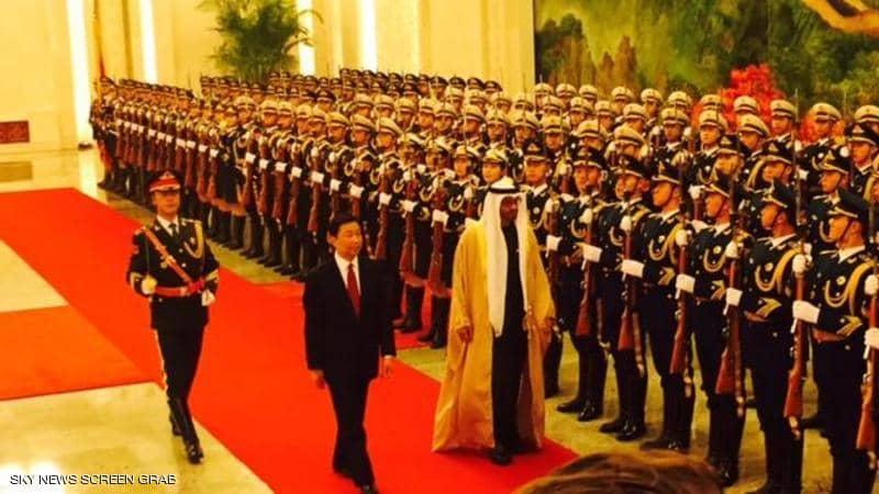 محمد بن زايد في زيارة سابقة إلى بكين