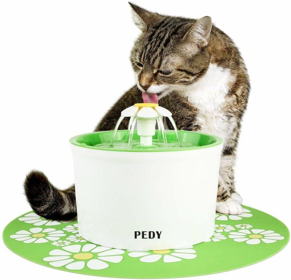 mejores fuentes de agua para gatos - fuente dispensadora de 1,6 l