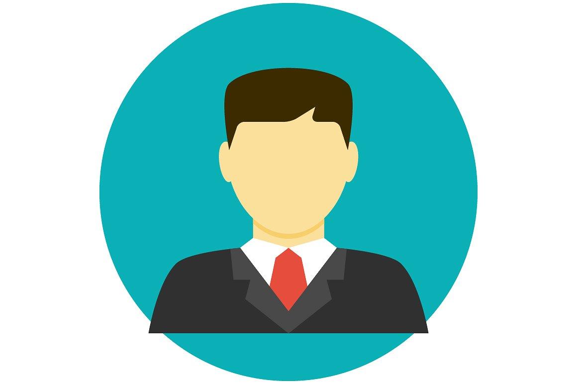 Lawyer Avatar Flat Icon 01