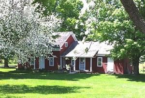 Wilder Homestead Original House in the Spring