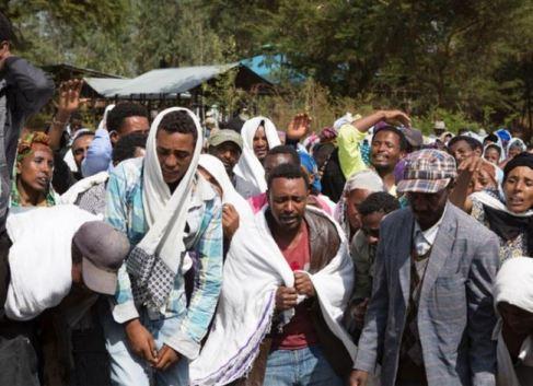 Mourners of T-TPLF Massacre Victims 12 2015