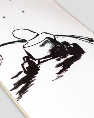 weißes board mit schwarzem print