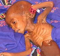 Child in  Darfur refugee camp, www.columbia.edu
