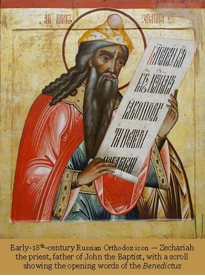Russian Orthodox icon, Zechariah