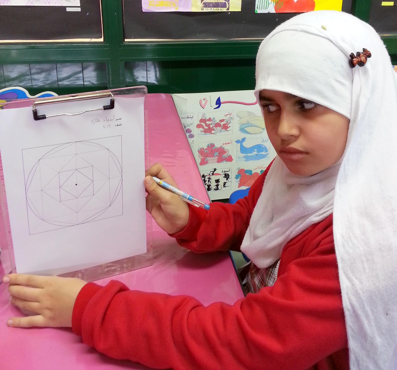التوريق في الزخارف الاسلامية الصف الخامس