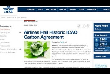 Historic Carbon Agreement at ICAO