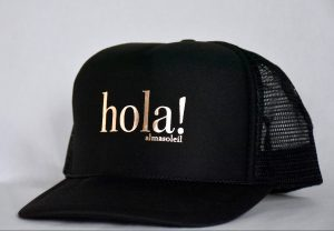 HOLA! Rose Gold on Black hat
