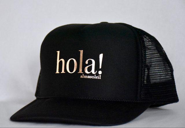 HOLA! Rose Gold on Black hat