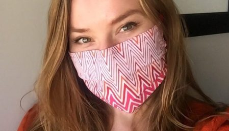 Lacey in Chevron Print Mask