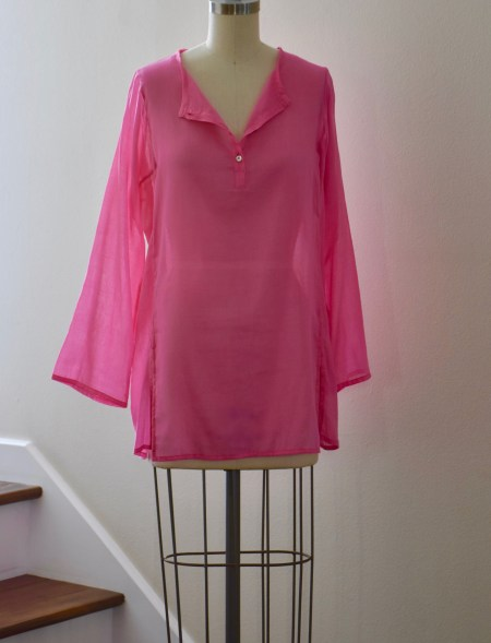 sheer cotton tunic