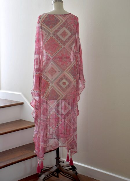 Silk Kaftan Back