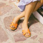 henna plana cuero mandarina