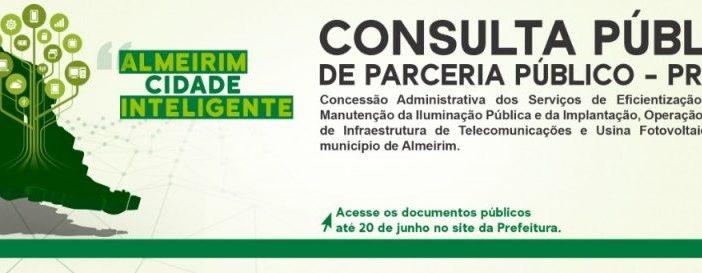 Prefeitura de Almeirim abre Consulta Pública de projeto de PPP de Cidade Inteligente