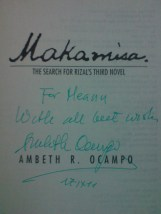 """""""Makamisa"""" signed by Ambeth Ocampo"""