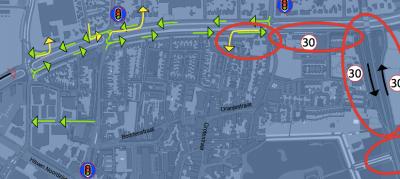 Streep door verkeersplan binnenstad