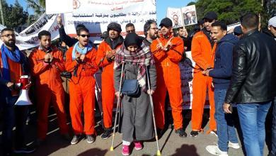 Photo of أساتذة الزنزانة 9 ينددون بالعنف الذي طالهم ويعلنون تصعيد احتجاجاتهم