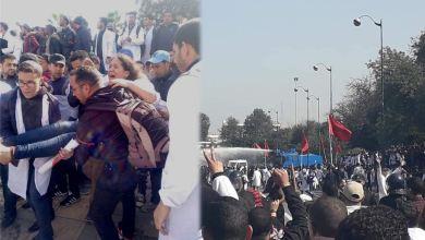 Photo of قبيل نهاية مسيرة الأساتذة.. السلطات ترد بخراطيم المياه والهراوات وتسقط عشرات الإصابات