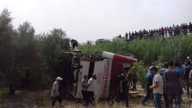 Photo of مصرع 4 مسافرين وجرح أزيد من 40 في انقلاب حافلة ضواحي تاونات