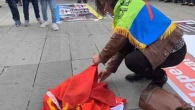 Photo of اللجنة التنظيمية لمسيرة باريس تتبرأ من حرق العلم الوطني وتصفه بالعمل المشبوه