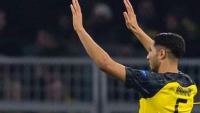 Photo of أشرف حكيمي يتألق ويصنع فرحة دورتموند الألماني أمام الإنتر (فيديو)
