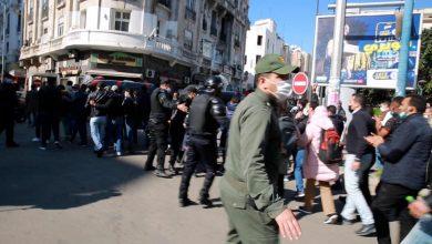 Photo of روبورتاج: سلطات الدار البيضاء تمنع مسيرة أساتذة التعاقد بساحة النصر