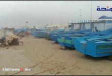 Photo of بحر مرتيل .. أمواج هائجة وتوقف كلي لمراكب الصيد بسبب الأمطار الغزيرة (فيديو)