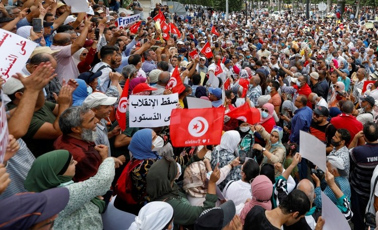 """""""مواطنون ضد الانقلاب"""" تدعو التونسيين للتظاهر ضد قيس سعيد"""