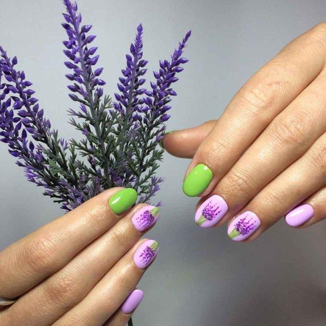 Волшебный маникюр в лавандовом цвете: 37 очаровательных идей для настроения - 8