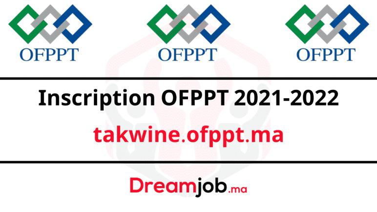 Inscription OFPPT 2022/2021 takwine.ofppt.ma