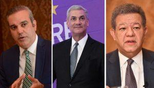 Abinader 55%, Gonzalo 26% y Leonel 14%, según encuesta firma ACXIONA