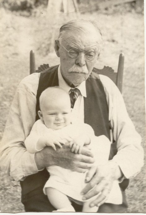 Charles Karr and baby