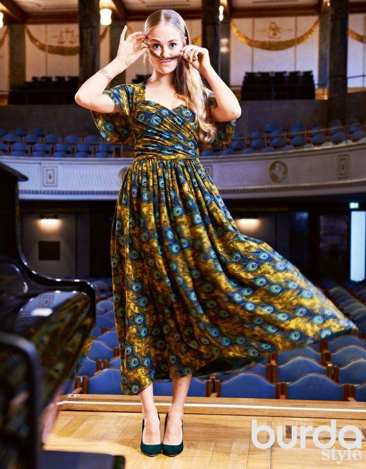 almond rock american in paris burda dress