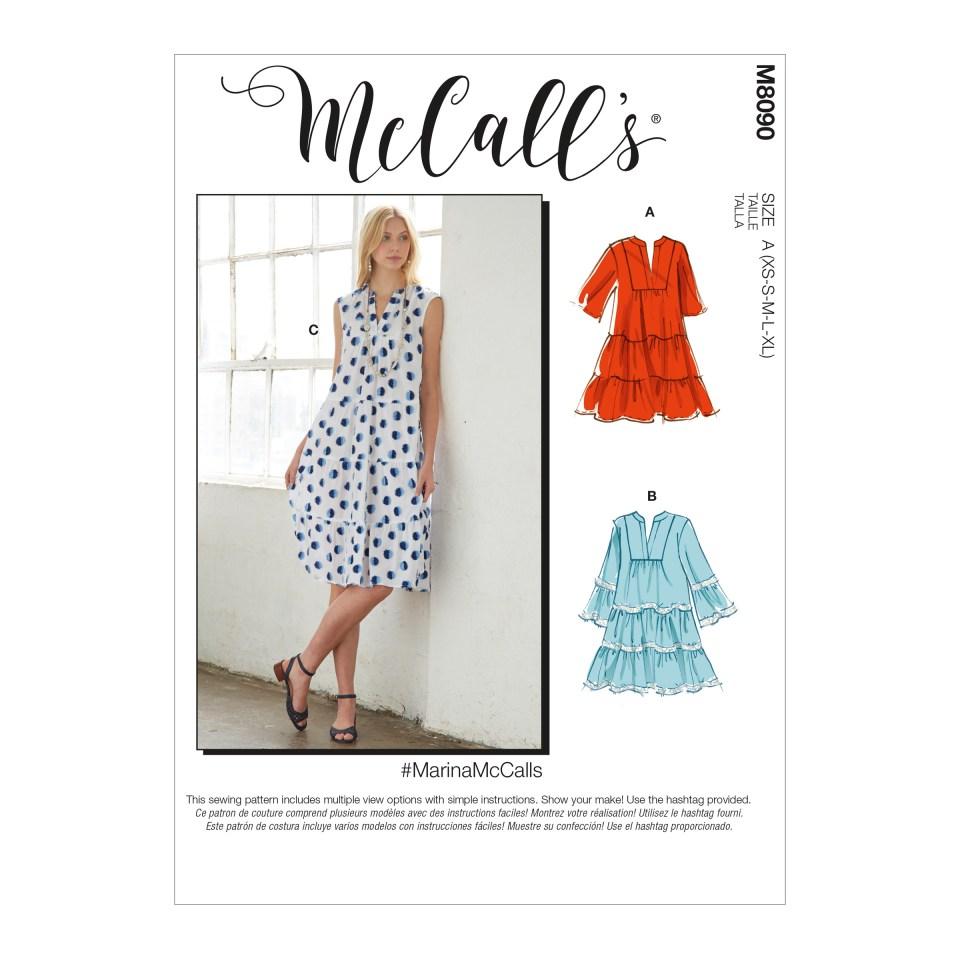 McCall's 8090 Marina dress pattern Love Sewing 95