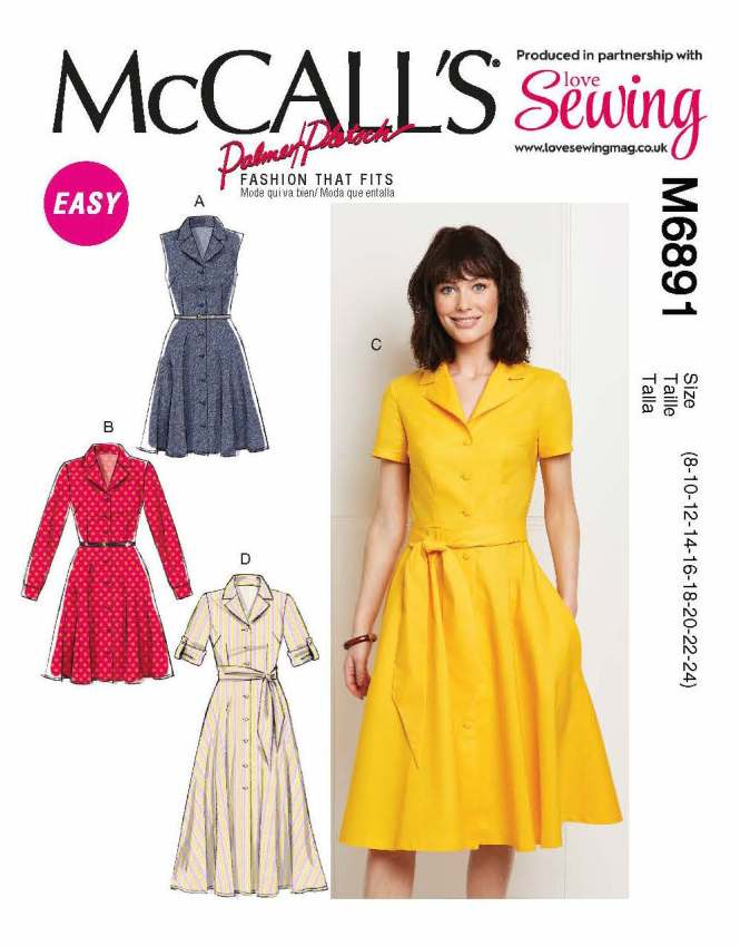 99f2410f70 The pattern is M6891 which is on the front of Love Sewing 63 on sale from  tomorrow! It's double stuffed so you get sizes 8-24 in one envelope and the  issue ...