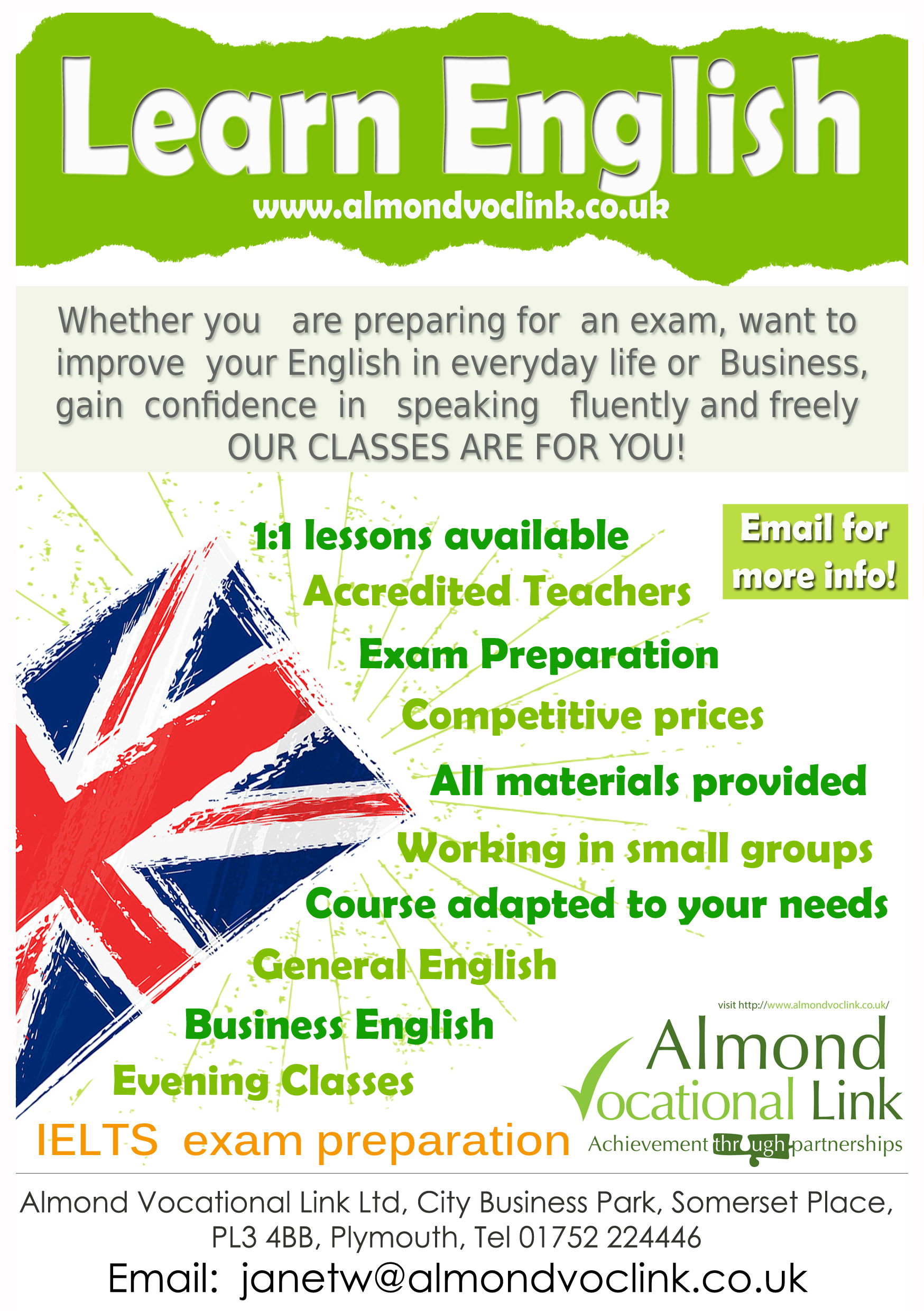 English Language Courses In Plymouth