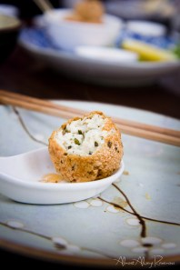 Tofu croquettes.