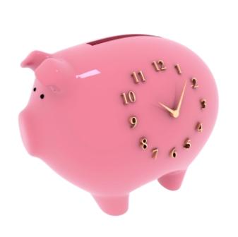 hurry up & wait piggy bank time