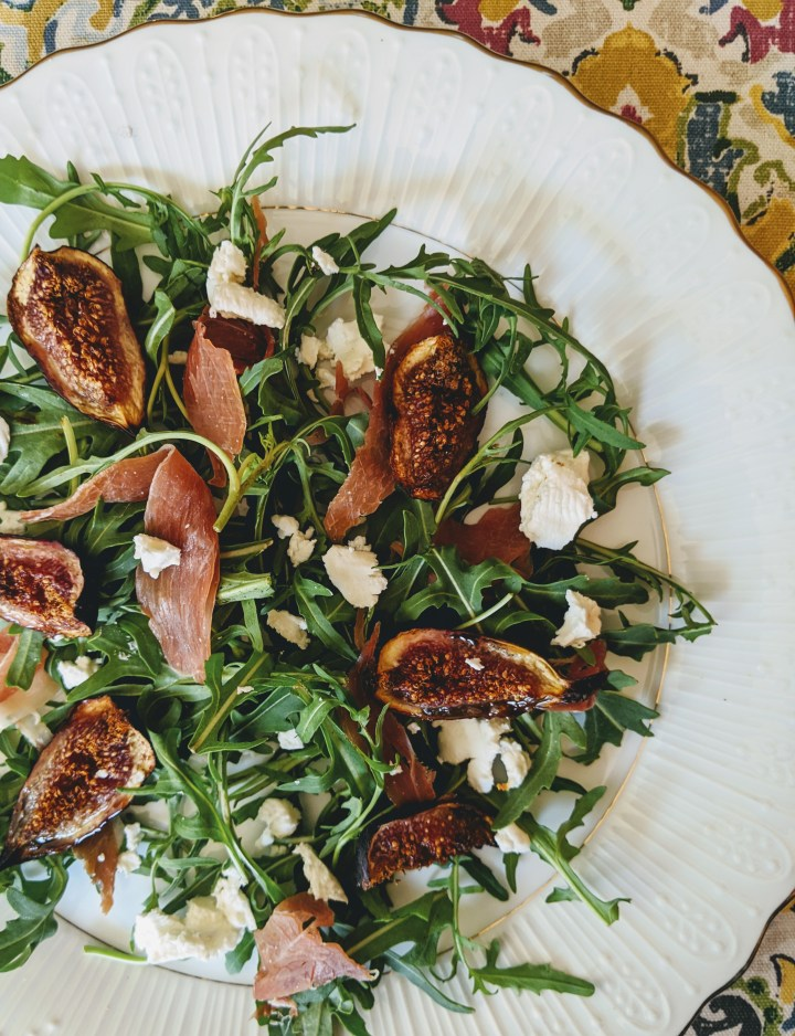 Roasted Fig and Prosciutto Salad