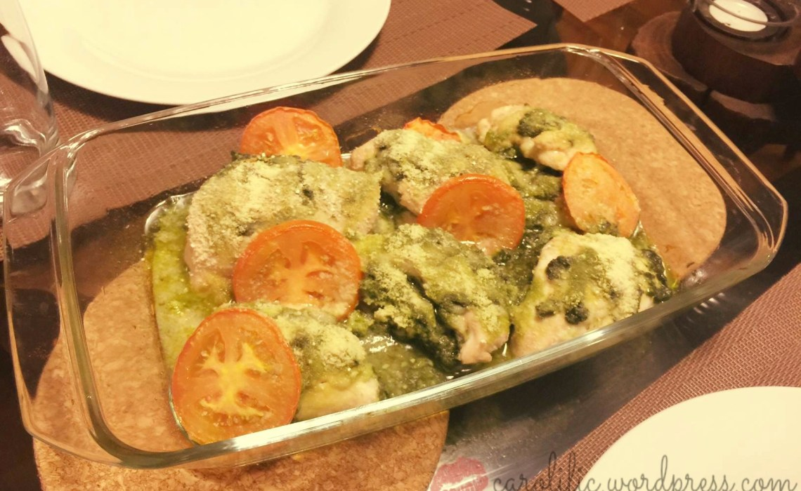 Quick recipe, Pesto, Chicken, Baked, Parmesan, Low-Carb, Healthy