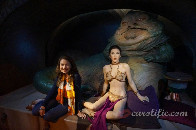London, Travel, Europe, Britain, UK, United Kingdom, Madame Tussauds, Madame Tussauds London, Leia, Leia Organa, Slave Leia, Jabba the Hutt