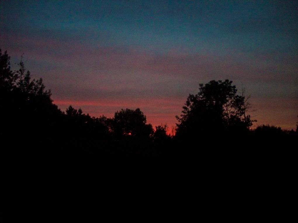 Sunset at Camp Ballibay Performing Arts Camp in Pennsylvania, USA